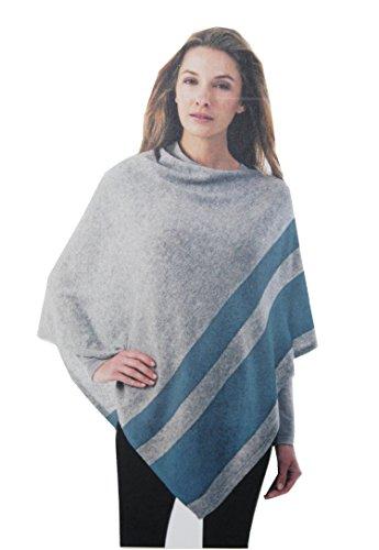 Celeste Women's Wool/Cashmere Blend Poncho (Quicksilver/Blue Heron)