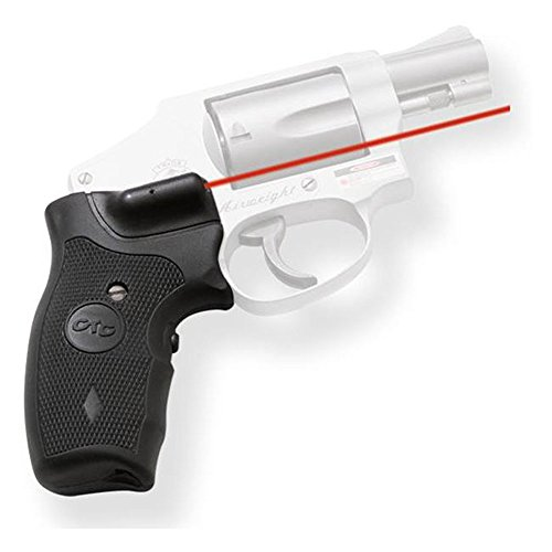 Crimson Trace Lasergrip LG-305R S&W J Frame, Round Butt, Red by Crimson Trace