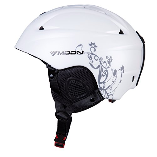 Girls Snowboard Helmet (SUNVP Ski Helmet Integrally Warm Outdoors Snowboards Helmets Adult Snow Sports Helmet (Grey/White,)