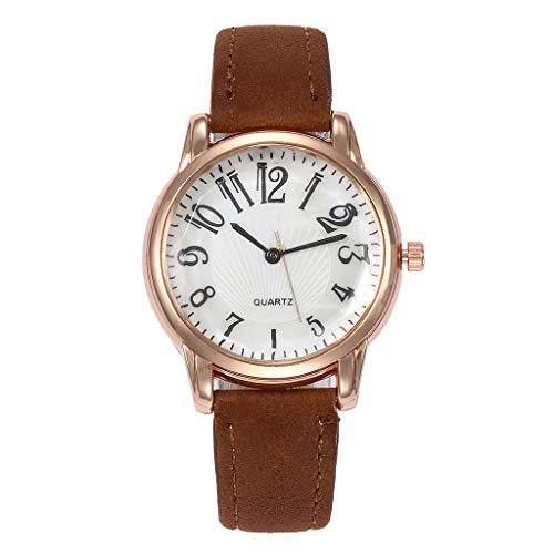 chengzhijianzhu_ Quartz Watches Ladies Fashion 2019 Letter Beautiful Simple Watch Ladies Leather Belt Watch Gift for Teen Girls Men Women Gift by chengzhijianzhu_ Quartz Watches (Image #1)
