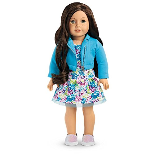 American Girl - 2017 Truly Me Doll: Light Skin, Freckles, Dark Brown Hair, Hazel Eyes DN55 (Doll Light Skin)