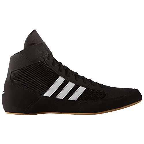 (adidas Havoc Mens Adult Wrestling Trainer Shoe Boot Black/White - US 9)