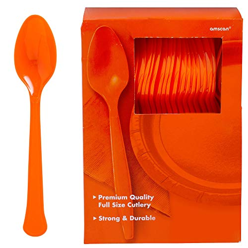 Big Party Pack Plastic Spoons | Orang Peel | 100 ct. | Party Supply -