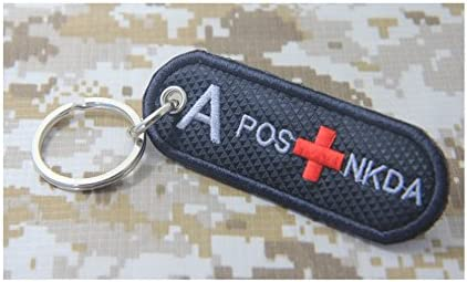 Sangre tipo a + B + AB + o + POS nkda rojo parche Militar ...