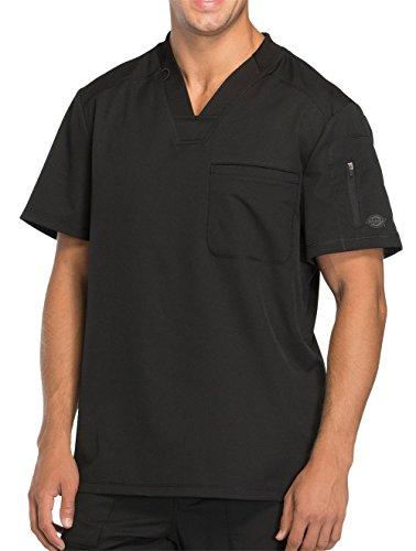 Dickies Men's Dynamix V-Neck Scrub Top, Black, Large (Mens Top Scrub Dickies Eds)