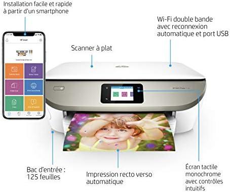 HP Envy 7134 4800 x 1200DPI A Jet d'encre Thermique A4 14ppm WiFi - Multifonctions (A Jet d'encre Thermique, 4800 x 1200 DPI, 125 Feuilles, A4, Impression directe, Gris, Blanc)