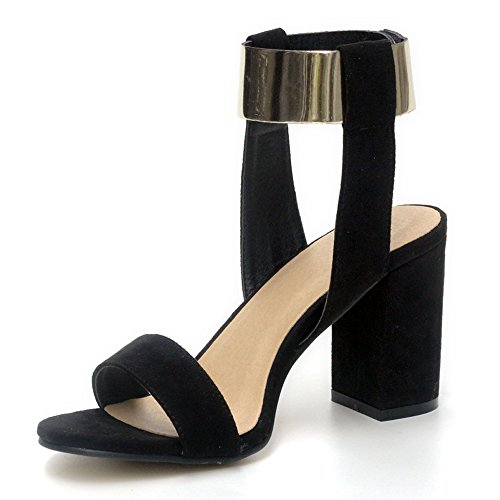 Eclimb Woman Open Toe Chunky High Heel Ankle Strap Sandals US 8 9Kpy3pE