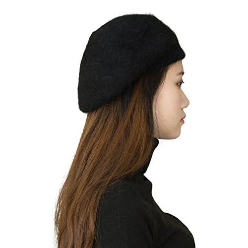 bd8b6031d1d0b4 CapHouse Fine Ribbed Womens Angora Knit Winter Beanie Hat ...