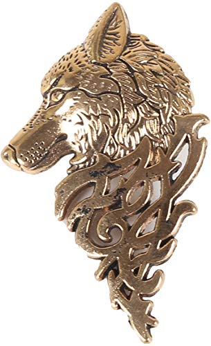 Flairs New York Gentleman's Essentials Premium Handmade Artisan Lapel Pins (Gold Dire Wolf)