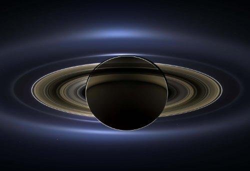 Saturn and Earth Cassini