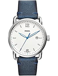 Men's 'The Commuter' Quartz Stainless Steel and Leather Casual Watch, Color:Blue (Model: FS5432)