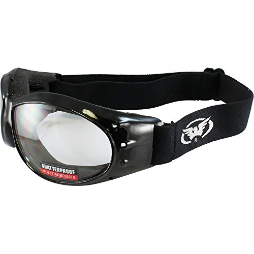 - Global Vision Eliminator Motorcycle Goggles (Black Frame/Clear Lens)
