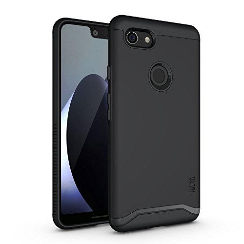 Shield Protector Black Rubberized Case (Google Pixel 3 XL Case, TUDIA [Merge Series] Heavy Duty Extreme Protection/Rugged with Dual Layer Slim Precise Cutouts Phone Case for Google Pixel 3 XL [Not Compatible with Pixel 3] (Matte Black))