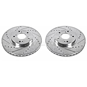 Power Stop JBR923XPR Front Evolution Drilled & Slotted Rotor Pair