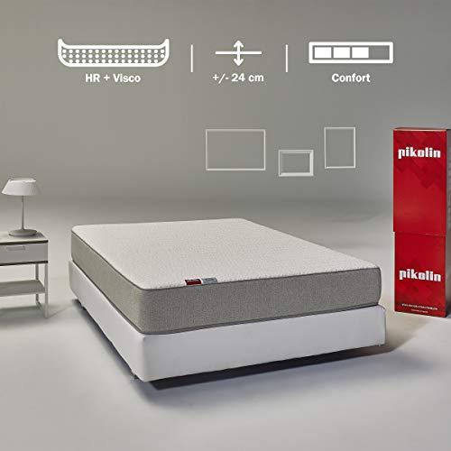 Pikolin Leah, colchón viscoelástico y espuma HR gama alta, 135×190, firmeza alta, confort visco, calidad máxima…