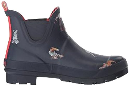 Joules Donna Wellibob Rain Boot Francese Navy Cani Accoglienti