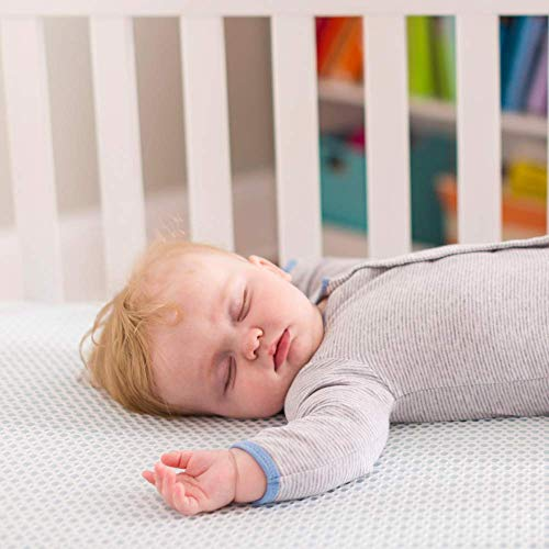 41D2T9bnHkL - Lullaby Earth Breeze 2-Stage Breathable Crib Mattress - Chemical Free, Dual Firmness Natural Mattress With Removable Washable Protector
