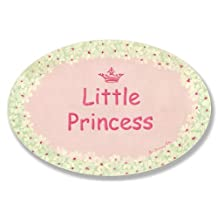 The Kids Room by Stupell Little Princess with White Daisy Border Oval Wall Plaque