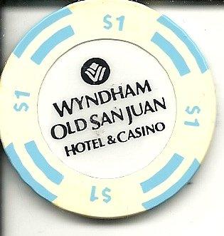 $1 wyndham beach resort rio grande puerto rico casino chip blue
