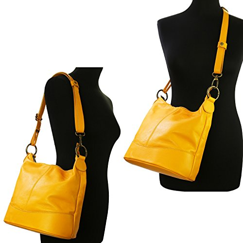 Mujer Para Bolso De Asas Amarillo Olivia q8ZwI
