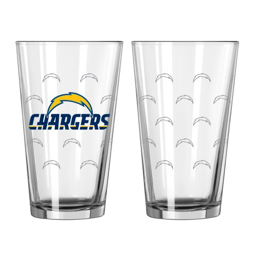 - Boelter Brands NFL San Diego Chargers Satin Etch Pint, 16-Ounce, 2-Pack