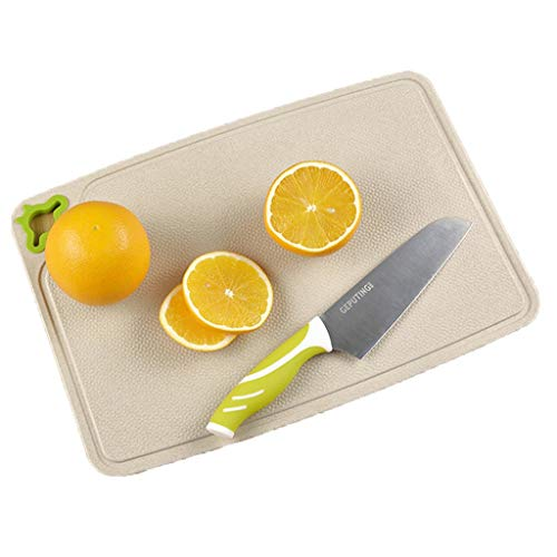 (Panel Rice Shell Cutting Board Fiber Cutting Board Mildew Cutting Board Cutting Board Kitchen Knife Board Plastic Cutting Board Household Fruit Board Rice Shell Pressing Kitchen supplies)