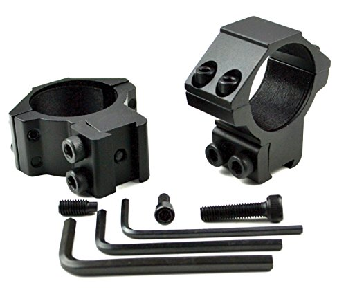 Pair of Dovetail 30MM Scope Rings - Choice of Medium or High Profile - Fits 3/8