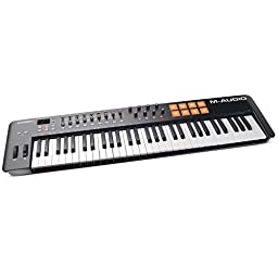 M-Audio Oxygen 61 MKIV | 61-Key USB MIDI Keyboard & Drum Pad Controller (8 Pads / 8 Knobs / 9 Faders)