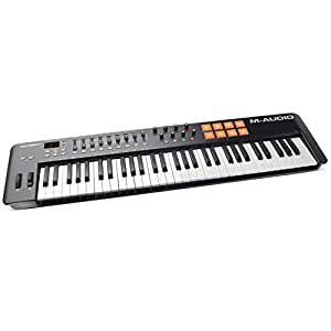 M-Audio Oxygen 61 MKIV | 61-Key USB MIDI Keyboard & Drum Pad Controller (8 Pads / 8 Knobs / 9 Faders), VIP Software Download Included