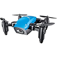 Cewaal S9 Mini Folding Pocket Quadcopter Drone, Pressure Set High/3D Tumbling/A Key Return, Drone with Headless Mode for Beginners