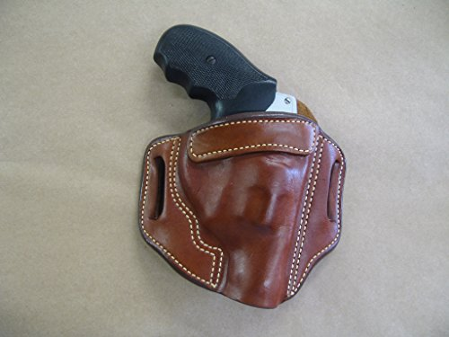 Charter Arms Bulldog 44 / Pitbull .40 OWB Leather 2 Slot Molded Pancake Belt Holster CCW TAN RH (Best Holster For Charter Arms Bulldog)