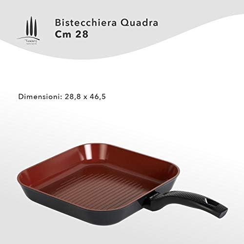 Classe Italy PTFE, PFOA, plomb, sans cadmium, poêle grill anti-adhérente naturelle, aluminium 3003 forgé