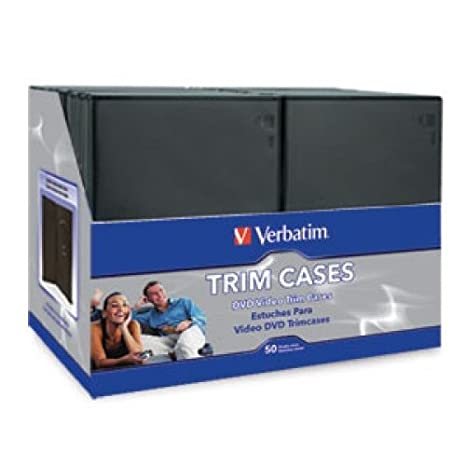 Amazon.com: VERBATIM CD & DVD SLIM VIDEO CASES 50PK / 95094 ...