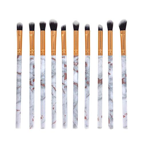 Honhui New 10 Marble Makeup Brush Eye Makeup Kit Professional Face Eye Shadow Eyeliner (white)