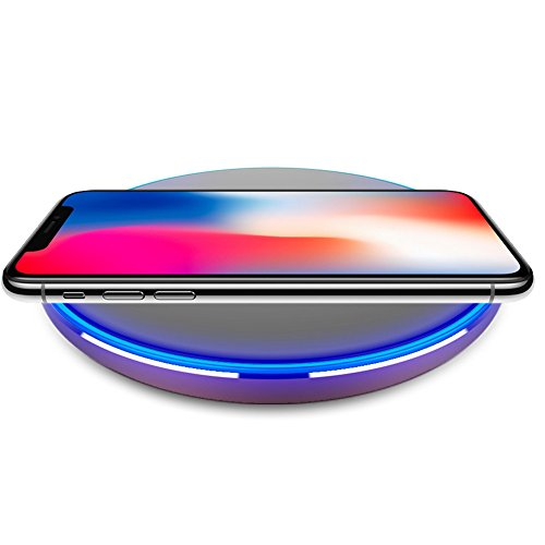 Choosebuy Qi Wireless Charger Save Power Charging Pad Mat Phone Pad for iPhone 8/8 Plus/X/Samsung Galaxy S9/Note 9 /Samsung Galaxy S8/S8 Plus/Samsung Galaxy S7 and More (Rose Gold)