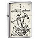 Brushed Chrome, Anchors Aweigh Emblem (ZI20692) Category: Mood Zippo Lighters