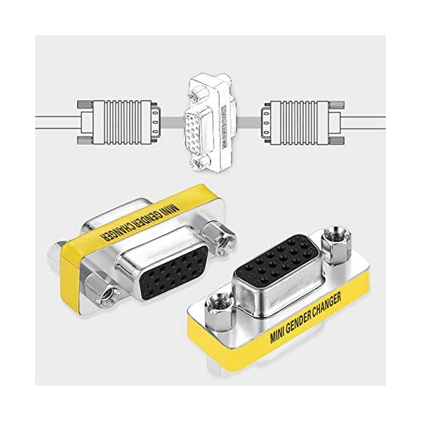 Adattatore per trasformatore di Genere a Pin Femmina VGA HD15 da Donna a Femmina di Design Professionale Disponibile… 7 spesavip