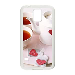 Afternoon Tea Unique Design Cover Case with Hard Shell Protection for SamSung Galaxy S5 I9600 Case lxa#411667