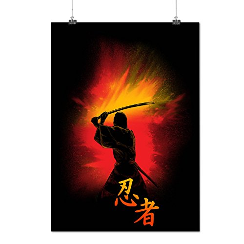 [Samurai Warrior Life Japan Life Matte/Glossy Poster A3 (12x17 inches) | Wellcoda] (National Costume Of All Countries)
