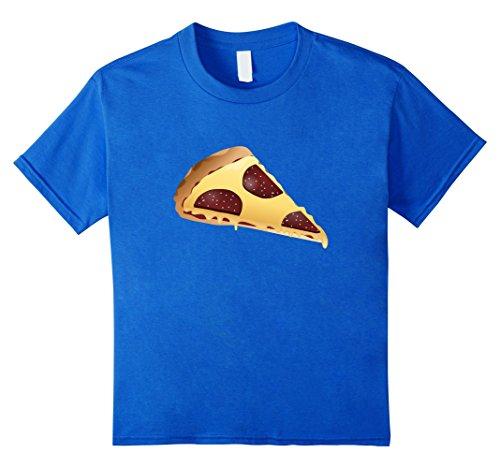 Kids National Pizza Day November 12 Emoji Tshirt 6 Royal Blue