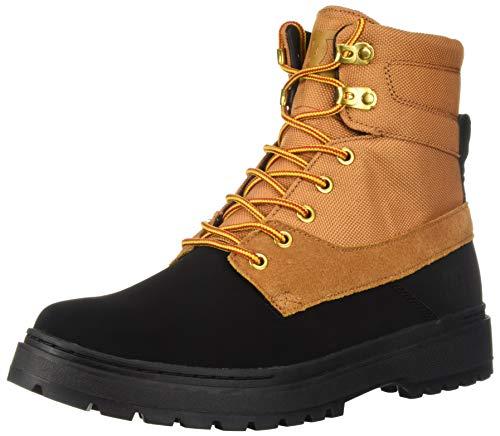 DC Men's UNCAS TR Fashion Boot, Black/Wheat, 8.5 Medium US (Dc Boots Men)