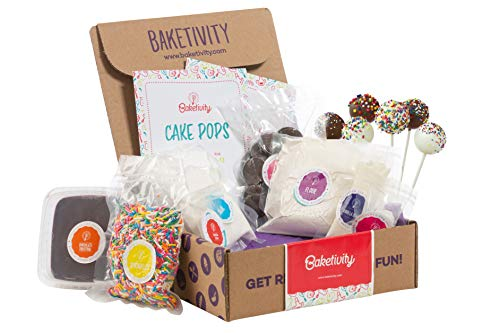 BAKETIVITY Kids Baking DIY Activity Kit - Bake Delicious Cake Pops With Pre-Measured Ingredients - Best Gift Idea For Boys And Girls Ages 6-12 (Childrens Christmas Cakes)