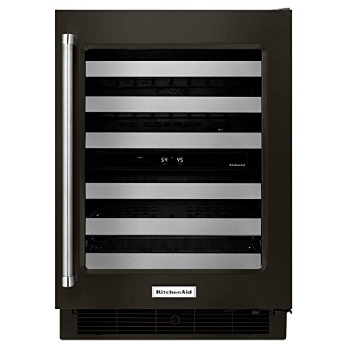 KitchenAid KUWR304EBS 24 Inch Black Stainless Steel Wine - Kitchenaid Black Refrigerator