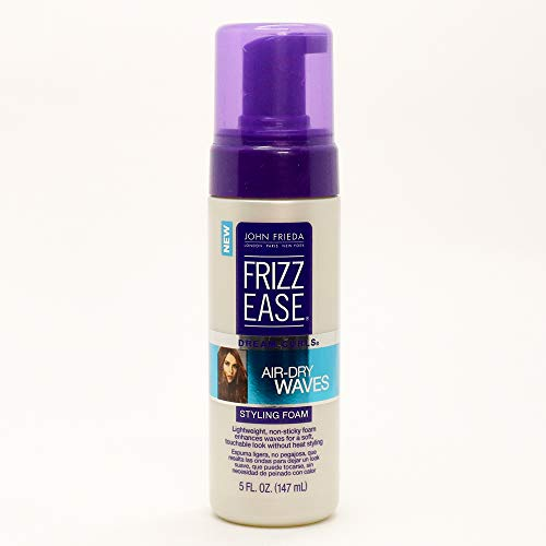 John Frieda Frizz Ease Dream Curls Air Dry Waves Styling Foam, 5 (Curl Enhancing Hair Products)
