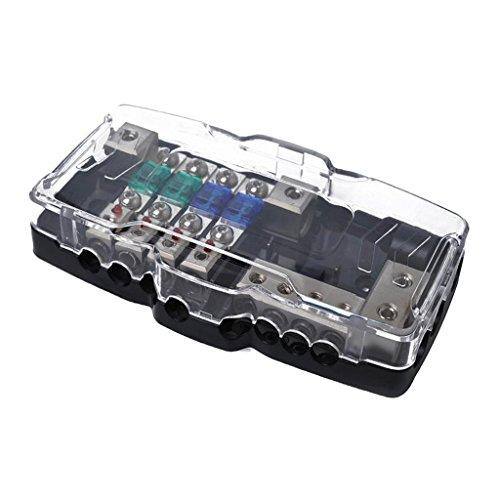 - Baoblaze Car Boat Audio 4 Ways ANS Fused Distribution Block 2x 0/2GA INPUT 4x 4/8GA OUTPUT