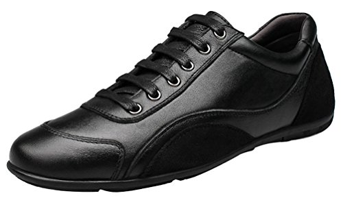 Shoes Smart Mens Casual Eu Walking New Comfy 1618 41 Leather Qyy Black Yq8wAxS