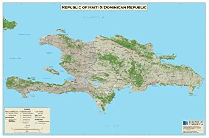 Amazon.com: Map of Republic of Haiti & Dominican Republic ...