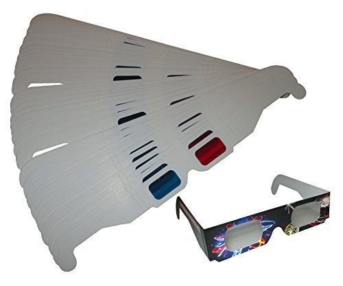 Anaglyph 3D Glasses (Red/Cyan) 50 Pair + 1 Pair Orbit Specs Fireworks Diffraction Glasses by Rob's Super Happy Fun Store