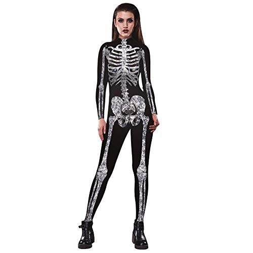 Amazon.com  JJEUWE Women s Skeleton Halloween Bodysuit Costume Stretch  Skinny Catsuit Jumpsuit  Clothing 5ca1b3090