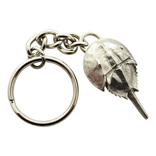 (Horseshoe Crab Keychain ~ Antiqued Pewter ~ Keychain ~ Sarah's Treats & Treasures)